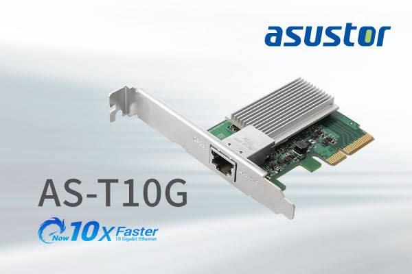 ASUSTOR releases the long awaited 10-Gigabit Ethernet Expansion Card!