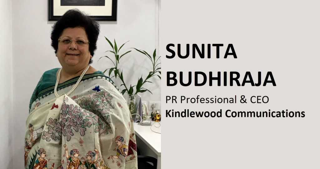 Sunita Budhiraja who is public relations professional, prolific writer, poet, founder and CEO of Kindlewood Communications